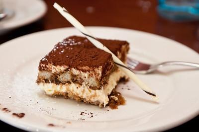 Tiramisu - Mascarpone cream, espresso coffee, lady fingers, and chocolate