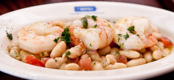 Gamberretti Fagioli - jumbo shrimp, cannellini bean salad, extra virgin olive oil, lemon juice