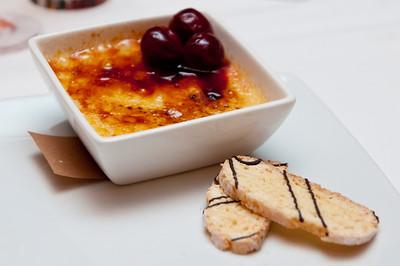 Cherries Jubilee Crème Brûlée