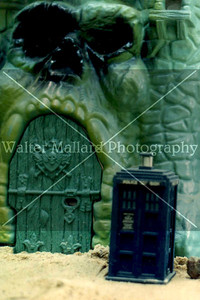 Diorama and Photo By Walter Mallard. TARDIS from Anthony Ainley (The Master). Dust specks may be evident.