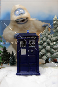 . Police Box in focus. Prints and purchased Downloads will not have watermark. Diorama and Photo By Walter Mallard