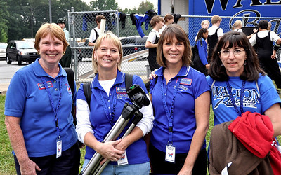 Band, Walton High School vs Campbell , Cathy, Pat Consolo, Julie Fesefeldt, Melissa Elliott