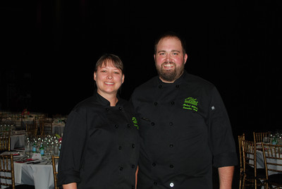 Sous Chef Shannon French and Chef Michael Wilson