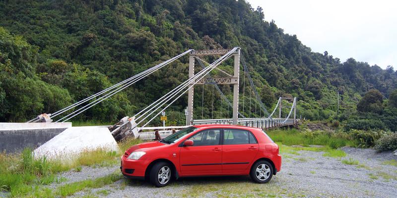 Cook River One Lane Bridge, West Coast,  South Island, NZ