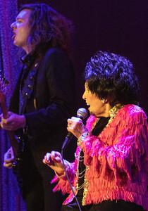 Wanda Jackson and one of the Ladybirds