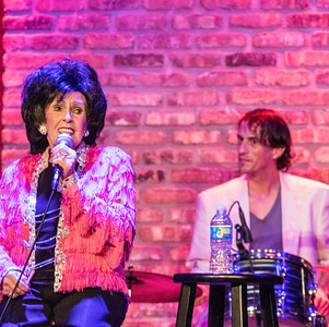 Wanda Jackson and the drummer from The Ladybirds