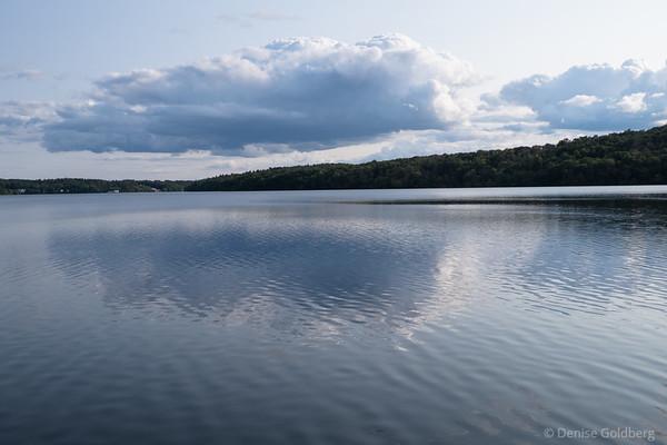 clouds and reflection, Lake Cochichewick