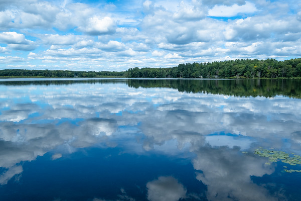 clouds, reflected
