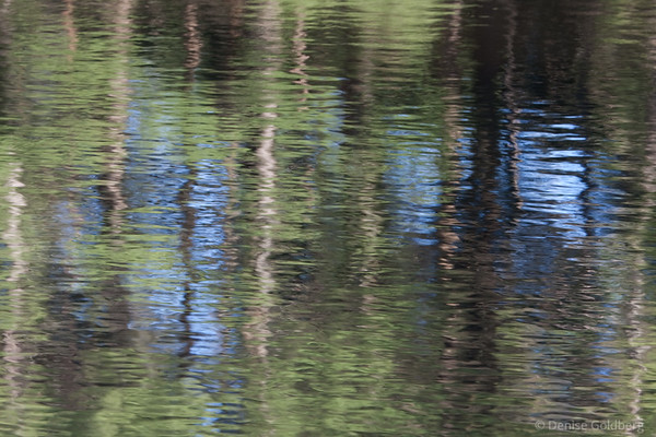reflections in moving water, a painting of sorts