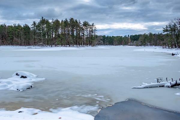 after snow, Harold Parker State Forest