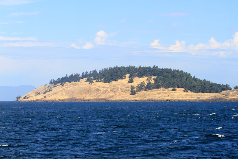 There are quite a few little islands between the San Juan Islands and Victoria