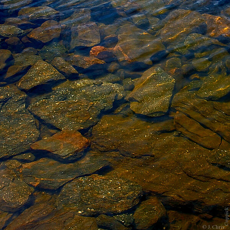Rocks in Water, Rocky Mountain National Park, Colorado