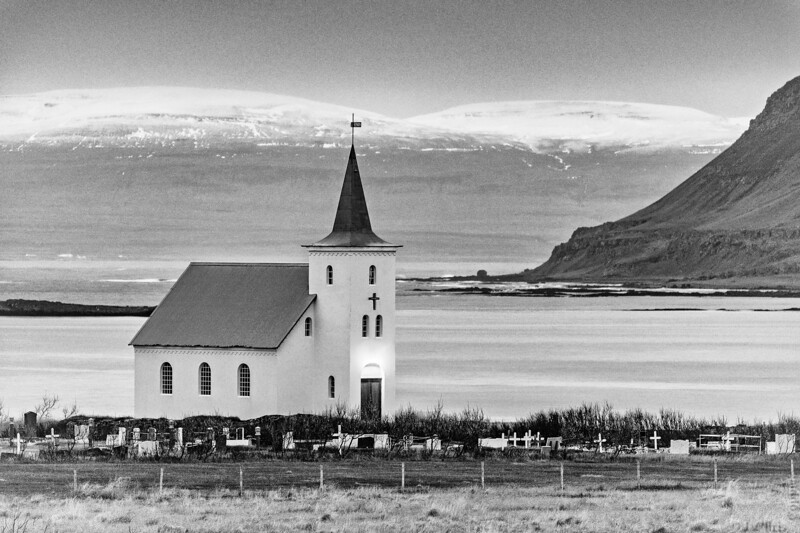 Kollafjörðr Church, Westfjords, Iceland