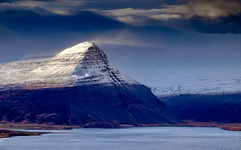 Snow Plume, Álftafjörður, Westfjords, Iceland