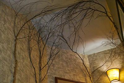 Hotel Hallway with Trees