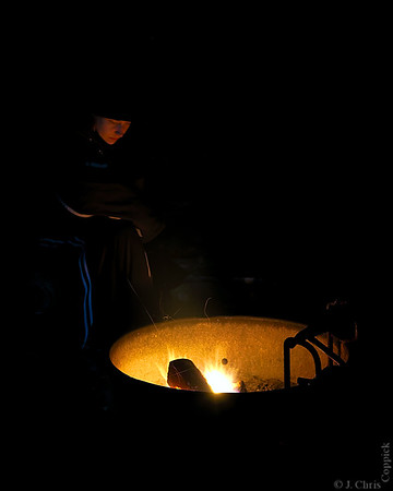Campfire, Ricker Pond State Park, Vermont