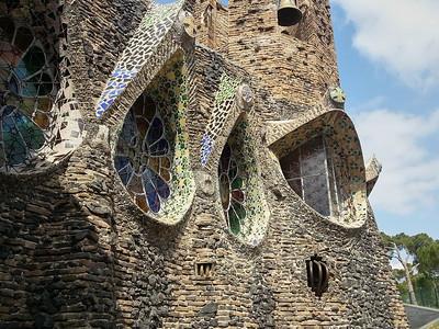 Gaudi windows, Colonia Güell, Spain