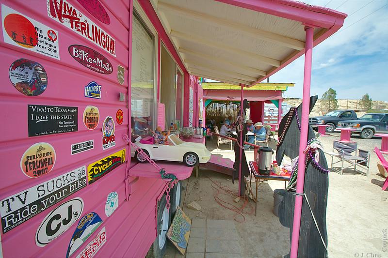 Kathy's Kosmic Kowgirl Kafe, Terlingua, Texas