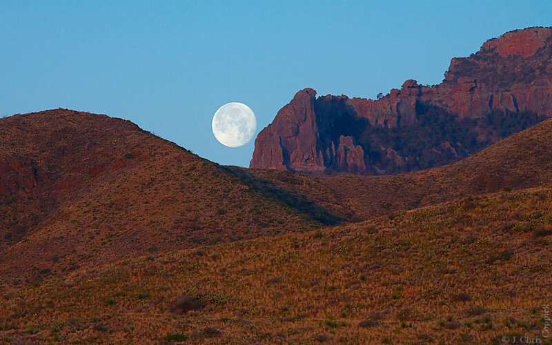 Moonset, Big Bend National Park, Texas