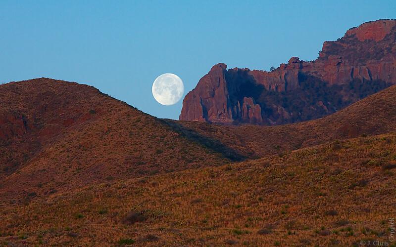 Moonset, Big Bend National Park, Texas