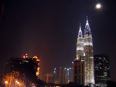 Petronas and the oil money lighting it up.