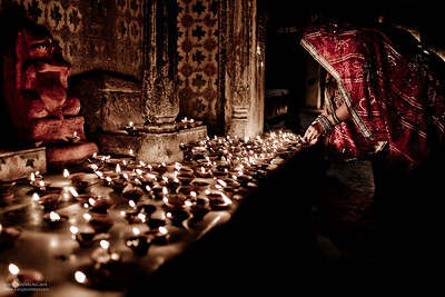 Diwali Evening at a Temple