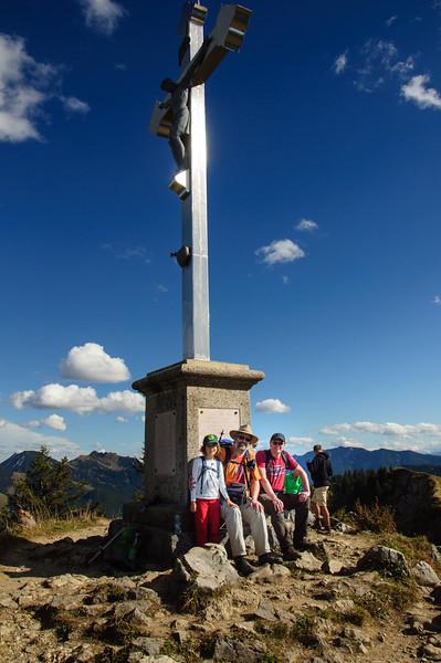 Geschafft: Elisabeths erster Alpengipfel