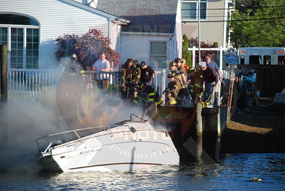 Wantagh F.D. Boat Fire 2362 Riverside Dr. 5/22/08
