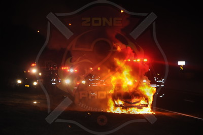 Wantagh F.D. Car Fire Northbound Wantagh Pkwy. north of the Southern State Pkwy. 1/13/14