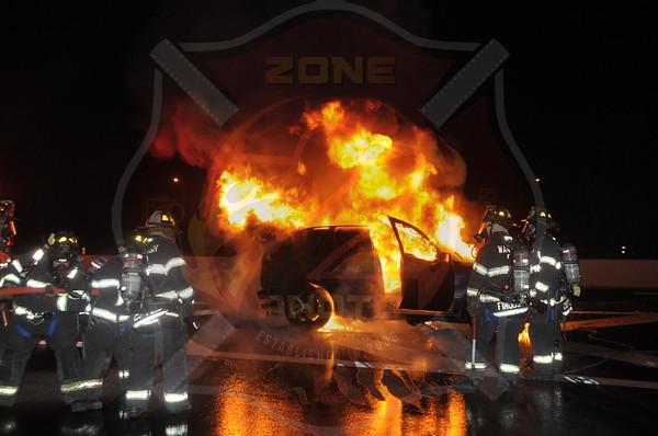 Wantagh F.D. Car Fire  Southbound Route 135 @ Exit 3   1/15/15