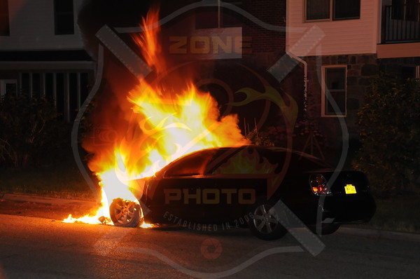 Wantagh F.D. Car Fire Wantagh Ave. and Stratford Rd. 7/3/12