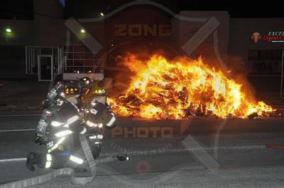 Wantagh F.D. Garbage Truck Fire  I/F/O 3434 Sunrise Hwy.  1/8/15