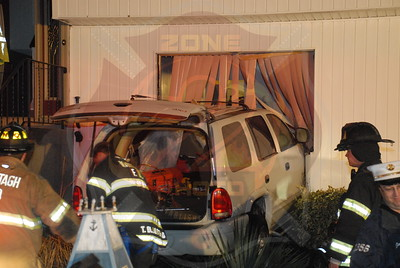 Wantagh F.D. MVA w/ Car Into a House 3524 Shore Pl. 4/7/11