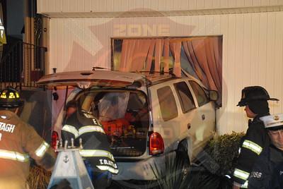 Wantagh F.D. MVA w/ Car Into a House 3524 Shore Pl. 4/7/11