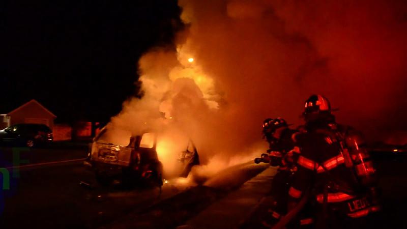Wantagh F D Car Fire 3779 Hunt  rd 11-29-13