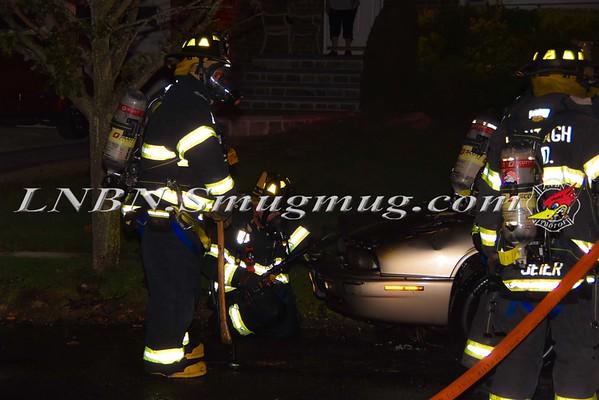 Wantagh F.D. Car Fire 4054 Briarwood Avenue 9-7-15