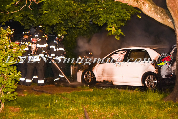 Wantagh F.D. Car Fire 50 Crescent Lane  6-4-16