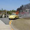 Wantagh F D  Car Fire Jones Beach E-B Bay Drive west of Field 10 4-28-13-5