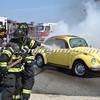 Wantagh F D  Car Fire Jones Beach E-B Bay Drive west of Field 10 4-28-13-9