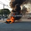 Wantagh F D  Car Fire Merrick Rd  and Beech St  7-17-13-2