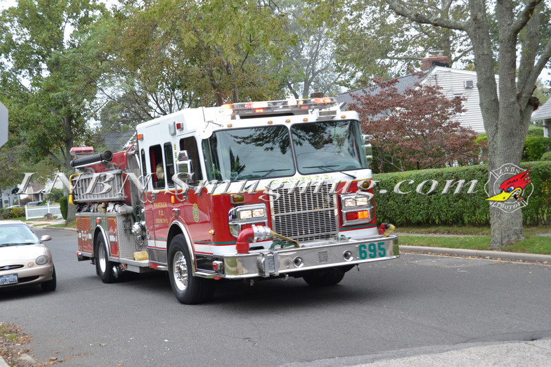 Wantagh F D  Car Fire St  Regis St  & Sycamore Ave  10-3-11-1