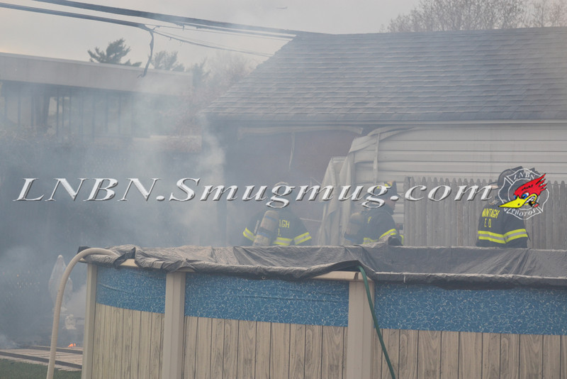 Wantagh F D  Garage Fire 720 Francis Drive 4-9-12-1