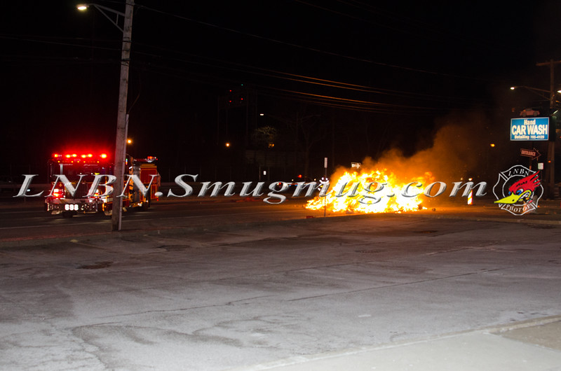 Wantagh F D  Garbage Truck Fire I-F-O 3434 Sunrise Hwy 1-8-15-1