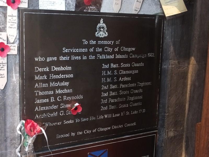 Glasgow cathedral - Falklands War