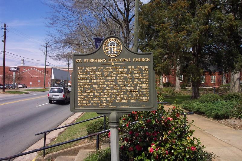 Milledgeville (Episcopal Church Sign) 2