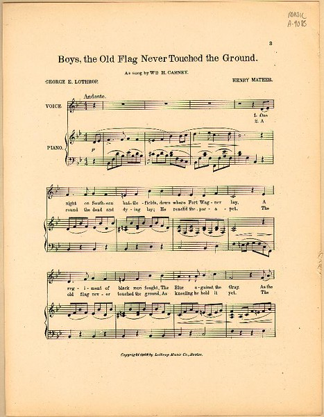 Old Flag Sheet Music 2