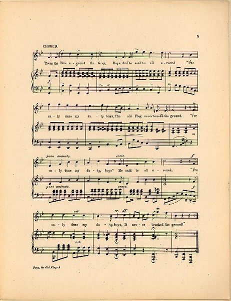 Old Flag Sheet Music 4
