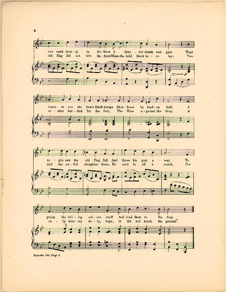 Old Flag Sheet Music 3