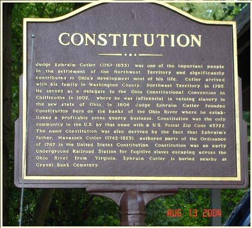 Constitution (Ohio) Marker