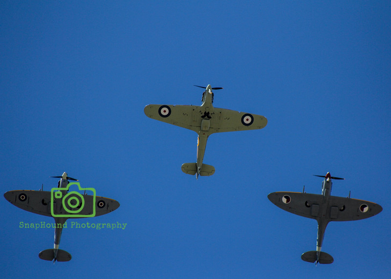 Spitfires and Hurricane